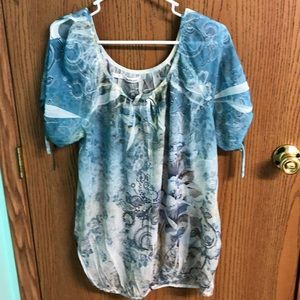 Maurice's size 0 sheer blouse